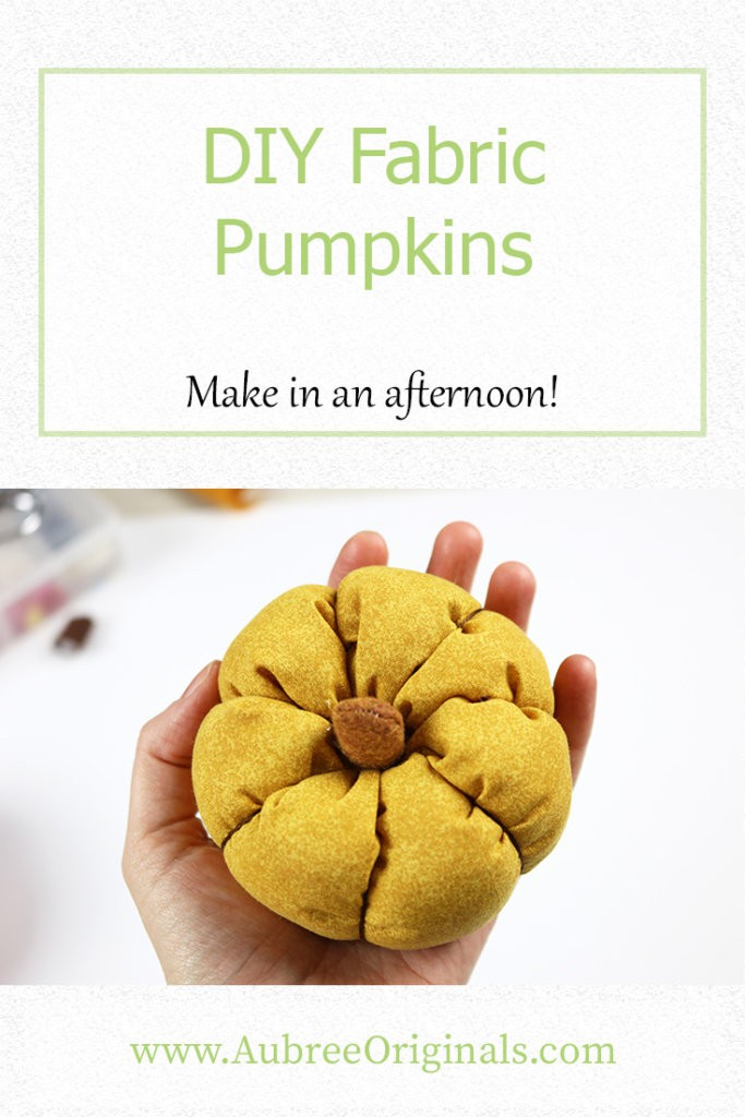DIY Fabric Pumpkins that you can make in an afternoon! Perfect easy craft project to get you in the mood for Fall.