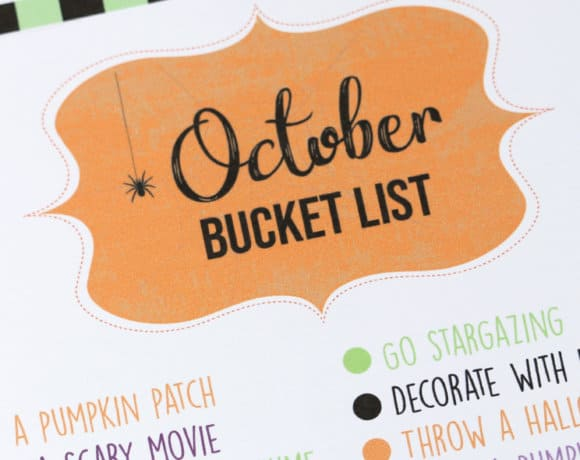 FREE Printable October Bucket List: all the things you need to do before the month is over! Head to the blog for the free download!