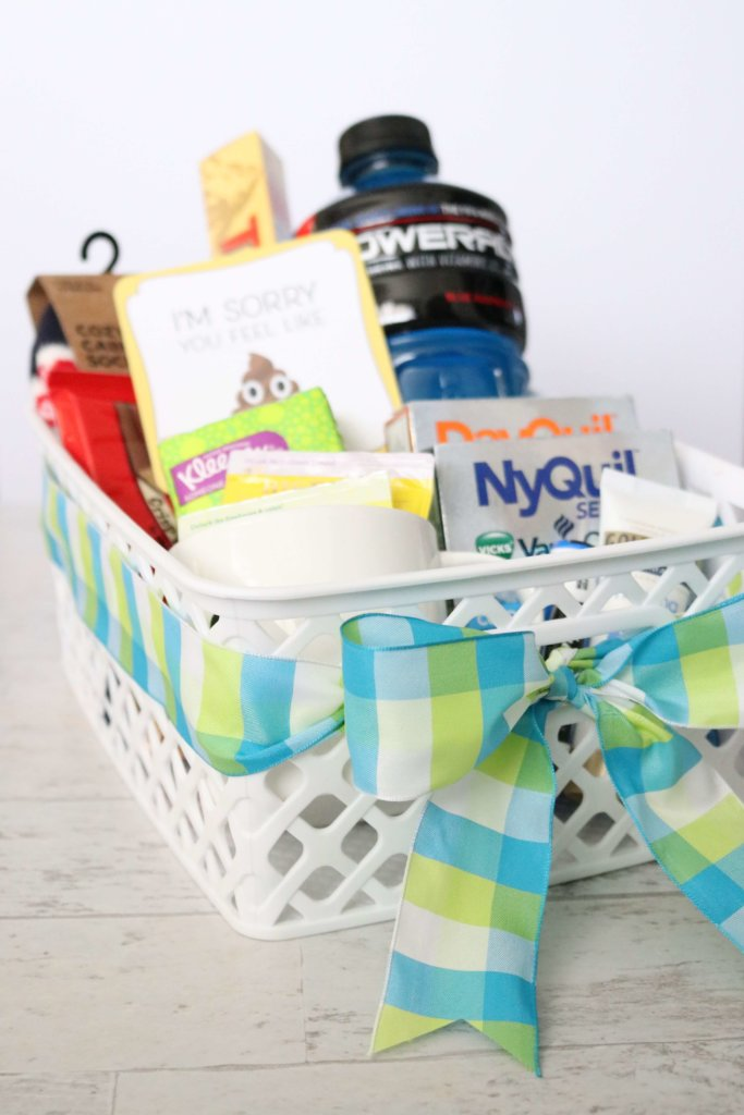 6 Steps to the Perfect Get-Well Gift Basket: These gift basket ideas are perfect for flu season! Include these 6 things for success when making your own DIY basket.