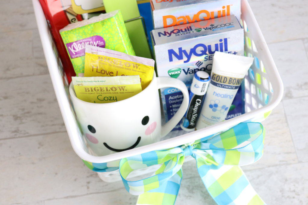 Making a DIY get-well gift basket? Don't forget these 6 all-important items for success! Perfect for flu season and all those friends and family members coming down with colds.