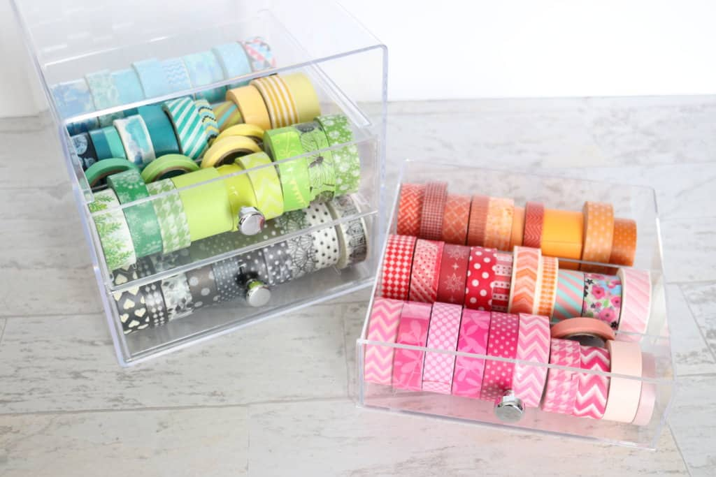How to organize washi tape. These ideas are super important when you're considering reorganizing your craft room!
