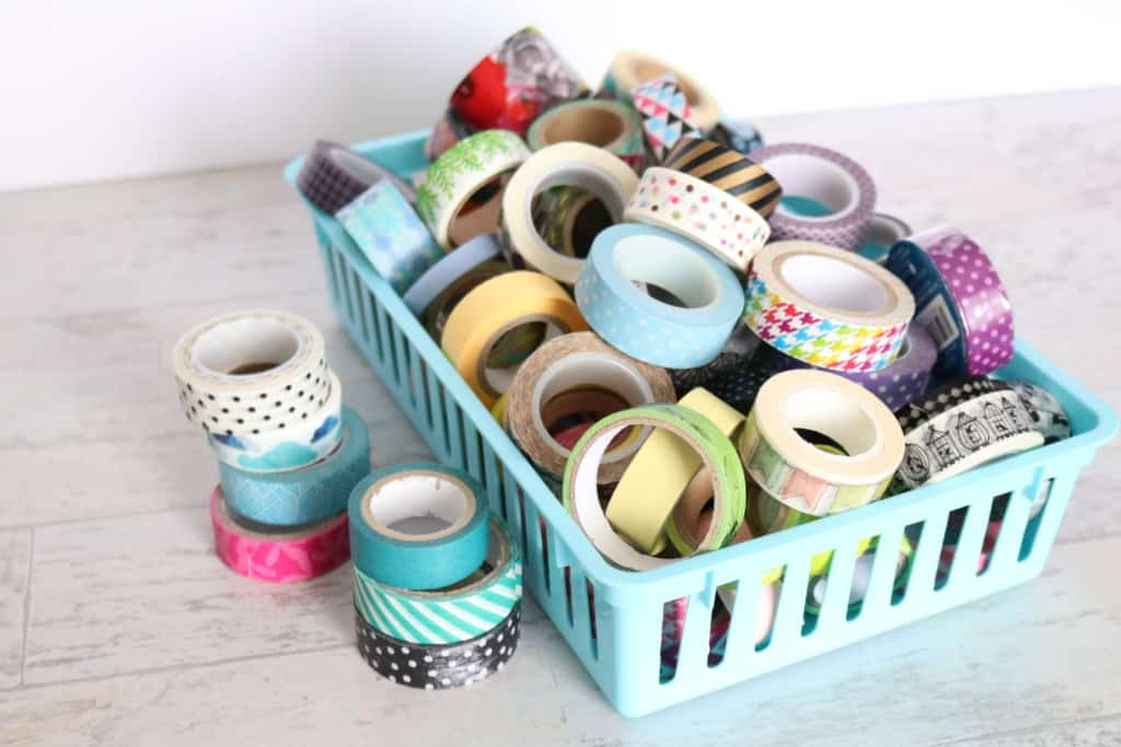How to organize washi tape. This is the best way to organize washi tape so you'll actually use it!