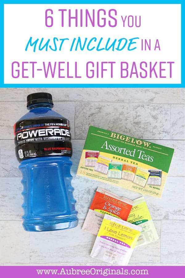 The 6 Things You Must Include in a Get-Well Gift Basket. Follow these steps to create the perfect gift for your sick friend, mom, sister, or neighbor. This must-have list of ideas has something for everyone and is completely adaptable for the unique needs of your recipient. Perfect for cold and flu season!