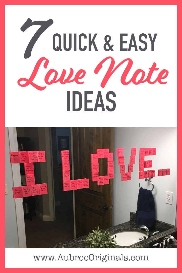 7 Cute Love Notes To Diy For Valentine S Aubree Originals