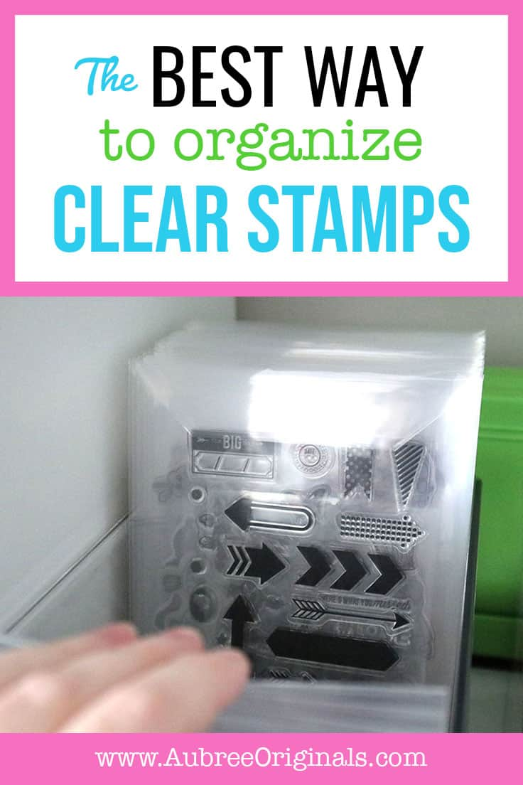 clear stamps in clear storage pockets