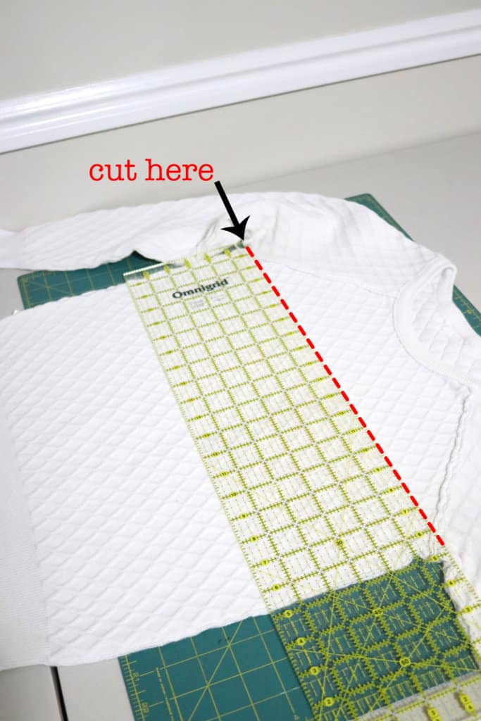 how to sew a DIY pillow cover from an old sweater