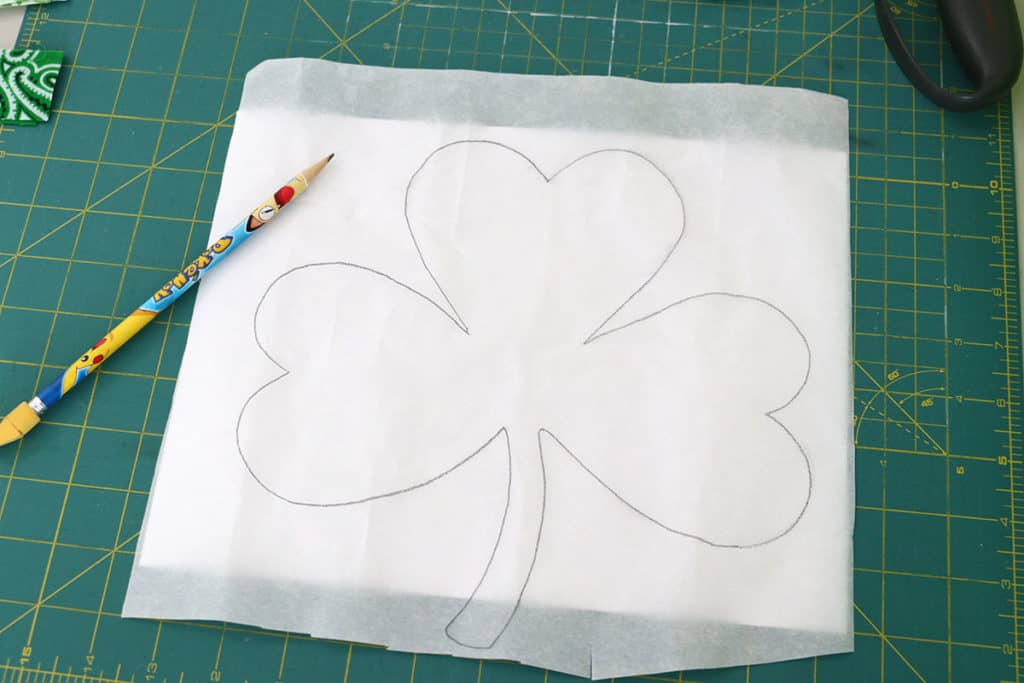 Wonder-Under shamrock template