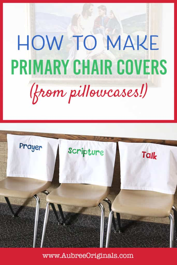 easy primary chair covers from pillowcases
