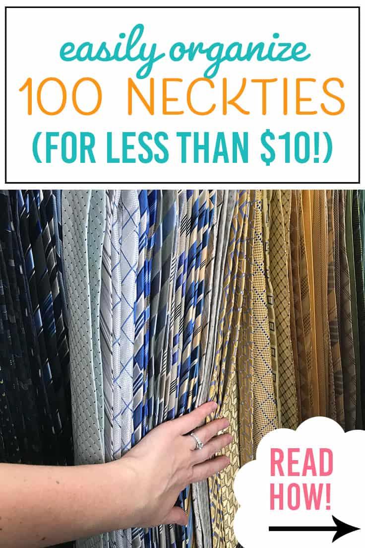 how to organize neckties