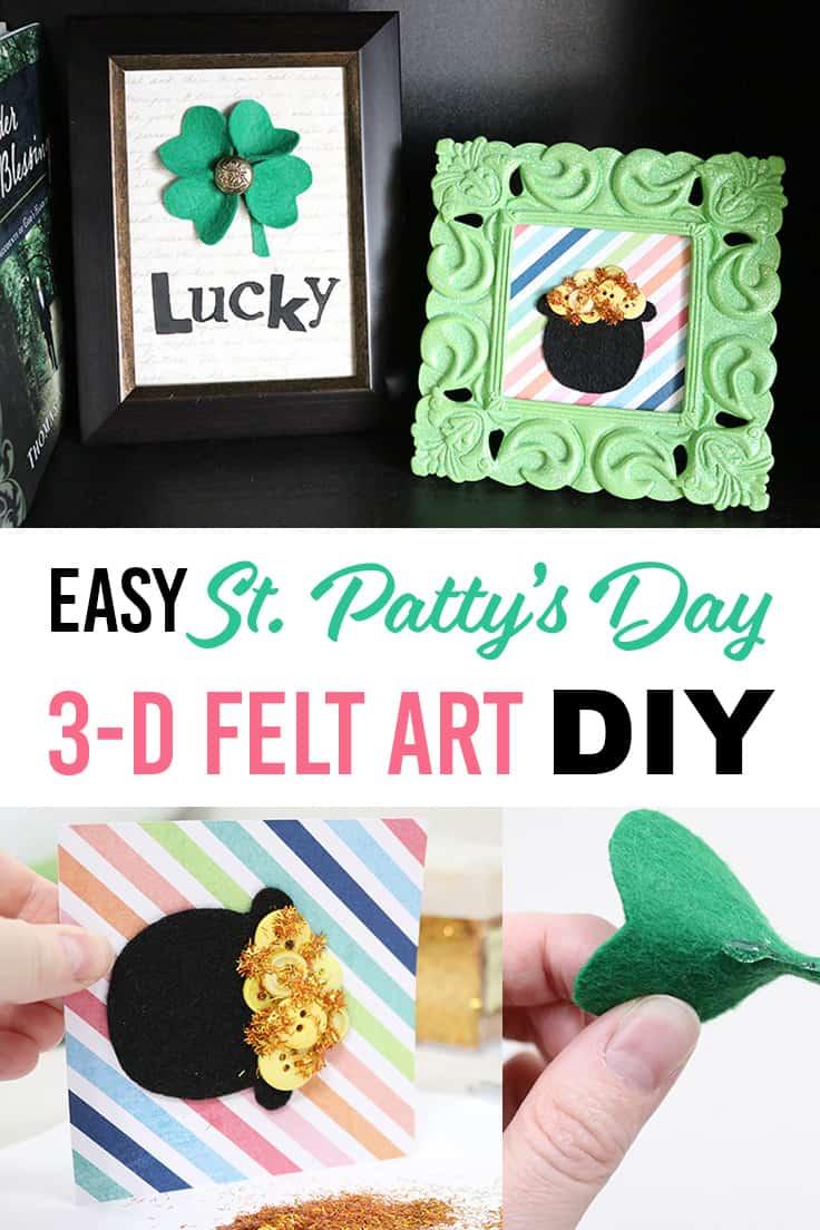 easy 3-D felt St. Patty's Day art