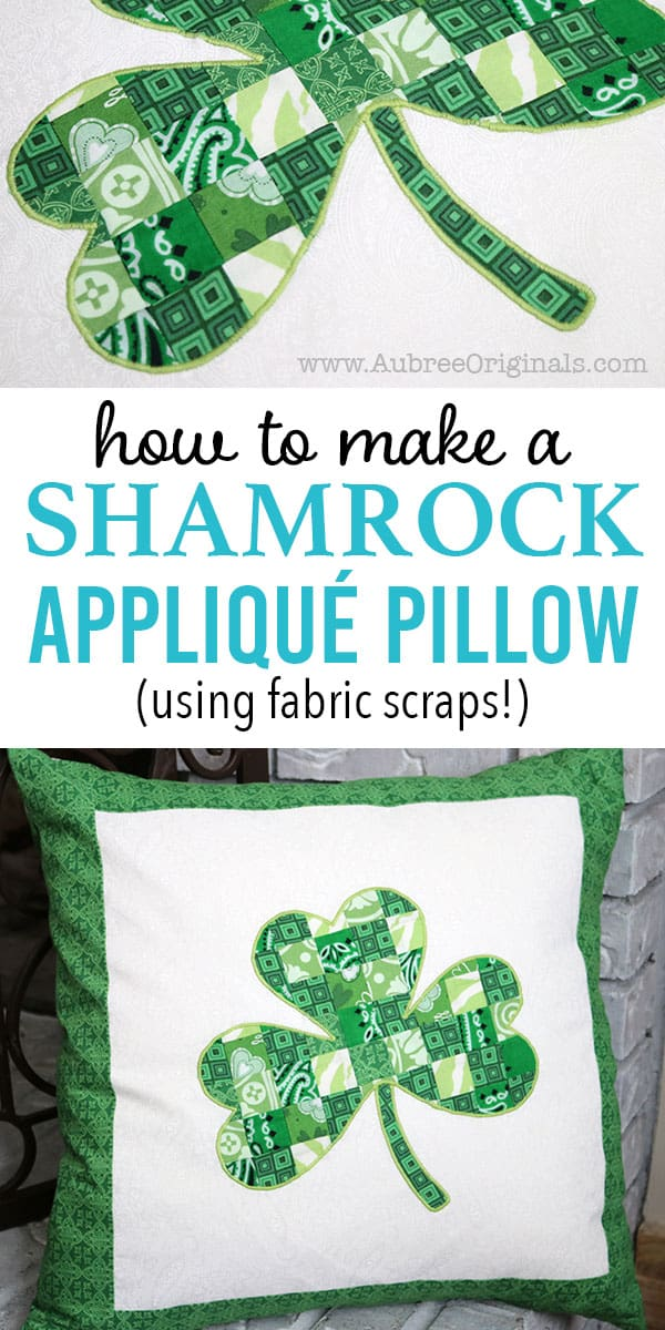 how to make a shamrock applique pillow