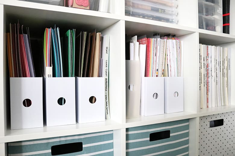 how to store scrapbook paper and cardstock