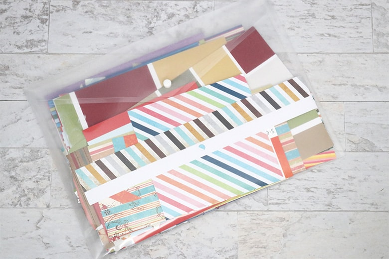 how to organize paper scraps