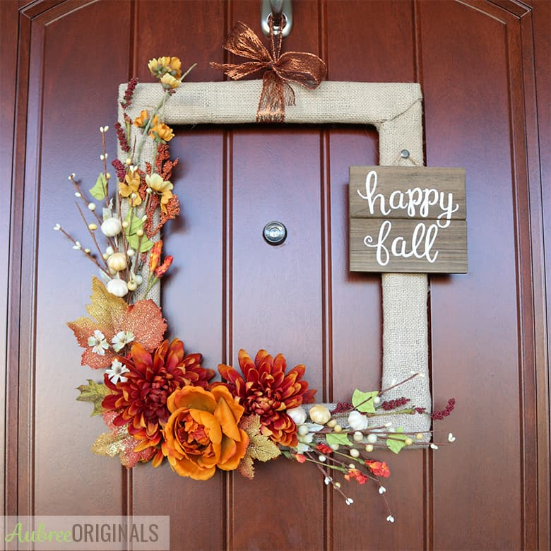 Easy Diy Fall Wreath From A Picture Frame Aubree Originals,Small Home Decor Ideas India