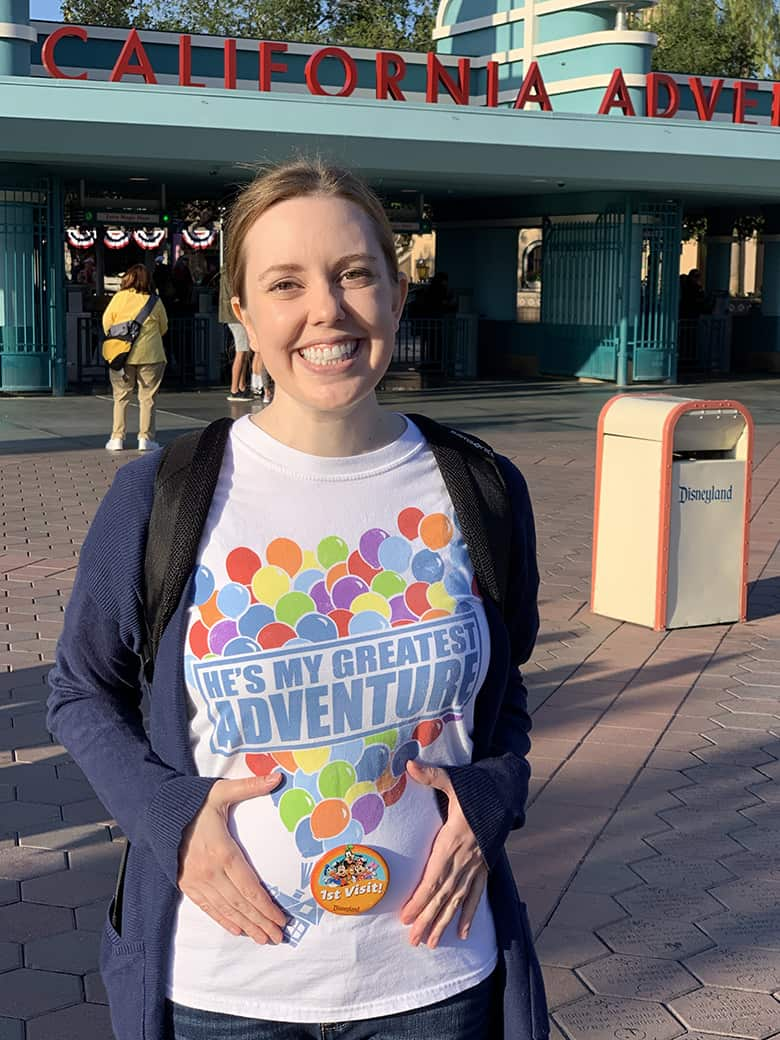 1st visit pin at Disneyland for baby bump