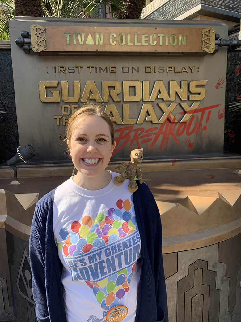 Guardians of the Galaxy sign at Disneyland