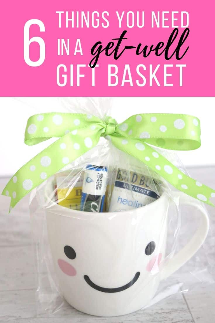 Follow these 6 ideas for the perfect DIY get-well soon gift basket. Being sick sucks, but these items are everything your friend needs to get feeling better!
