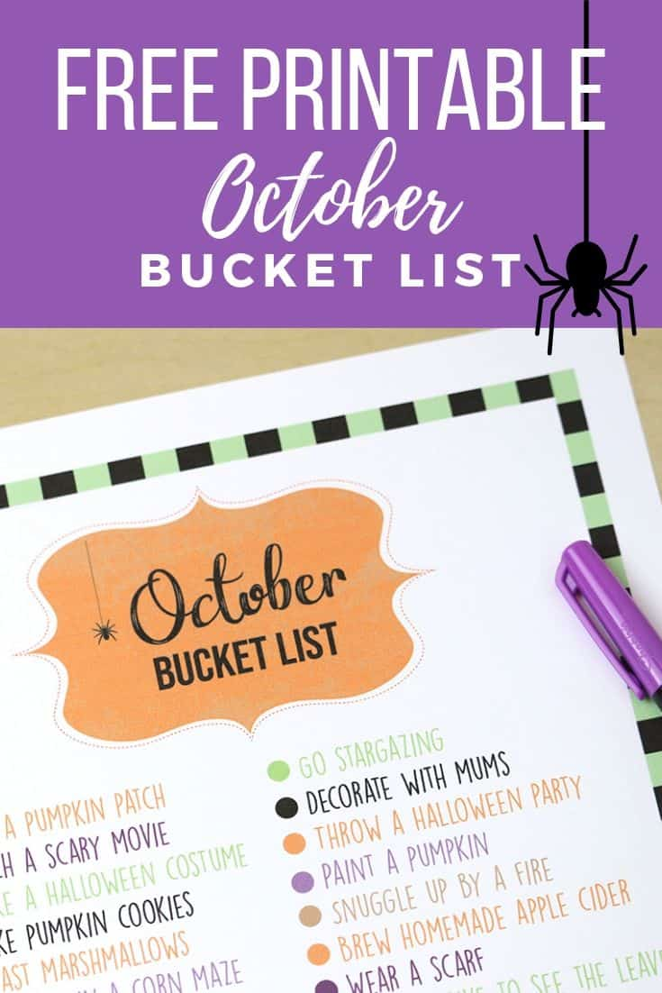 Snag your FREE printable bucket list! Looking for ideas to add to your fall bucket list? This list of 31 things to do in October is the perfect place to start! Fun for kids and adults!