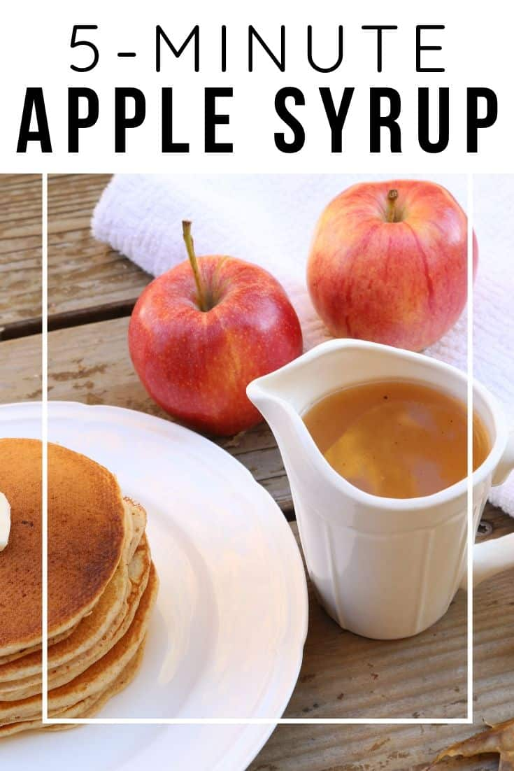 This is the best apple syrup for pancakes, waffles, or french toast! Made with apple juice, it's a fall breakfast recipe that even kids will love!
