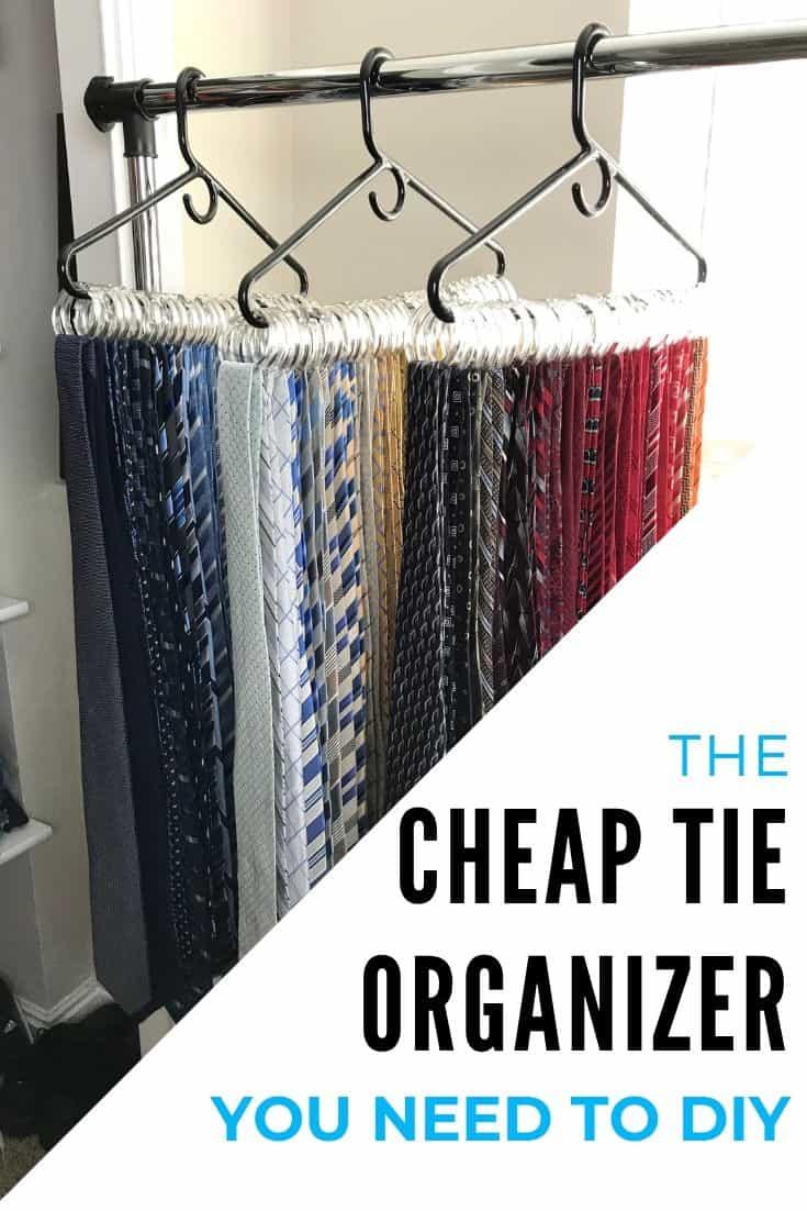 cheap diy tie organizer