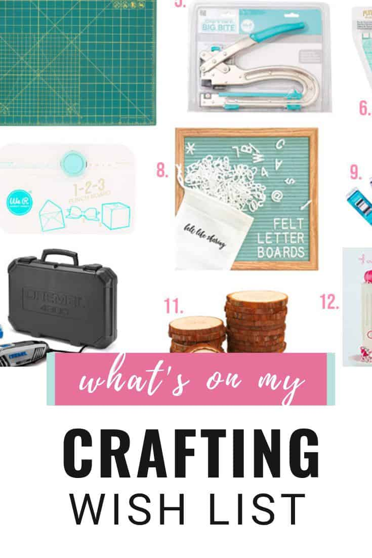 what's on my crafting wish list