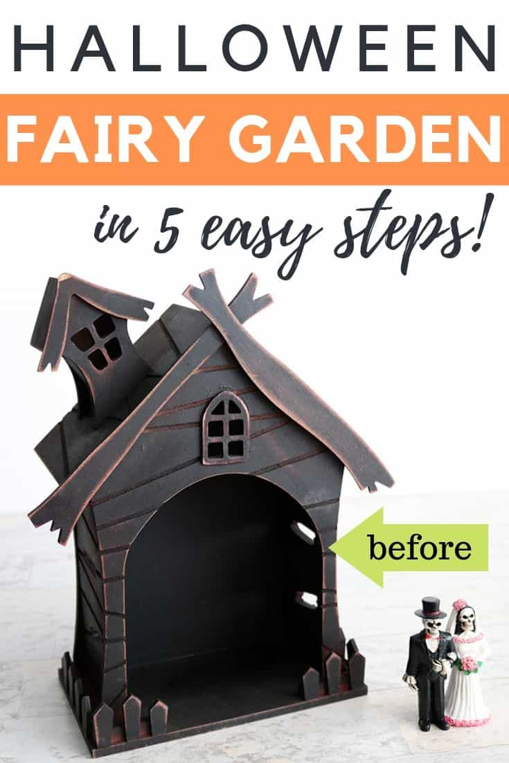 Halloween Haunted House Fairy Garden In 5 Easy Steps Aubree Originals