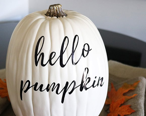 hand lettered pumpkin DIY