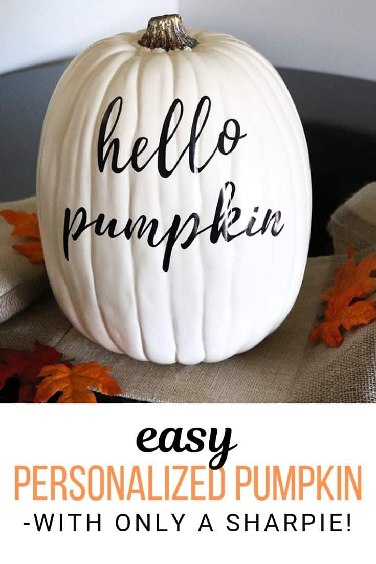 Make this easy hand lettered pumpkin perfect for your DIY fall decor! Using only a Sharpie, this is an easy and quick craft you will love. Plus, no lettering skills required!