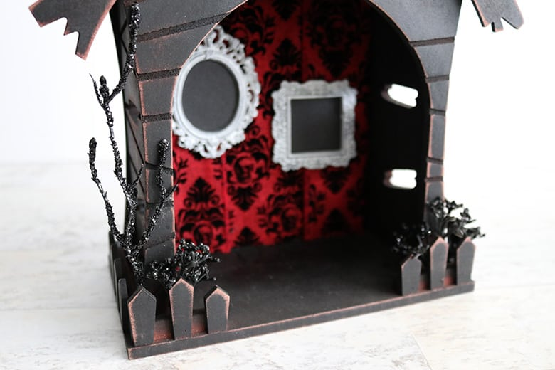 Halloween floral accents for haunted house fairy garden DIY