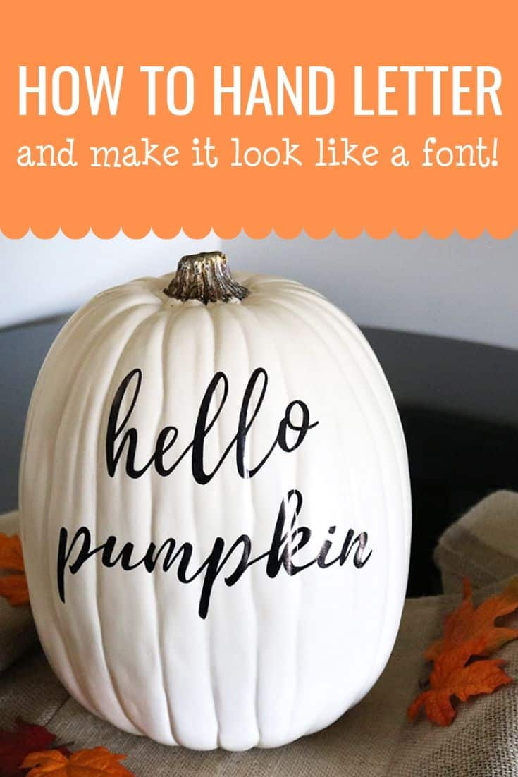 Hand lettering doesn't have to be difficult, especially with this cheater method! Make this personalized pumpkin today--an easy fall craft that's sure to spice up your fall decor!