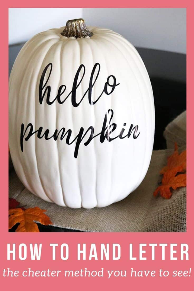 You don't have to be a lettering pro to make this easy fall craft! Turn a boring pumpkin into this cute, personalized statement piece with the help of a printed font! Easiest fall decor project!