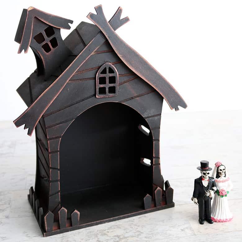 halloween haunted house fairy garden miniature scene DIY